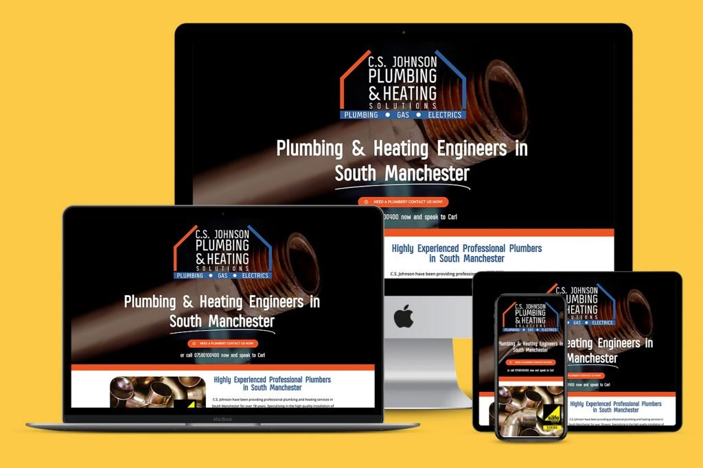 Plumber Branding Website Manchester - Branding and Websites by GhostCat Media.