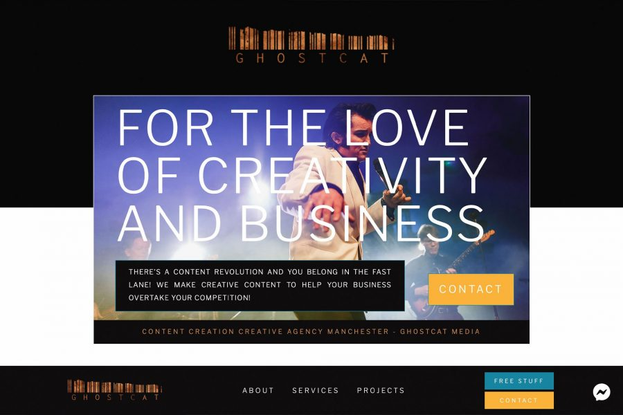 Manchester Business Website - next level website design and development in Manchester by GhostCat